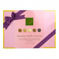 Luxury Chocolate Truffle Selection With Purple Ribbon (24 Pieces)