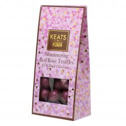 Valentine's Shimmering Dark Chocolate Rose Truffles