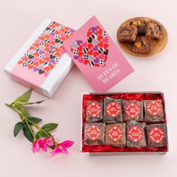 Queen of Hearts' Luxury Brownie Gift