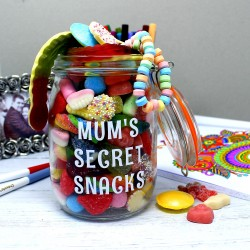 Mum's Personalised Retro Sweets Jar