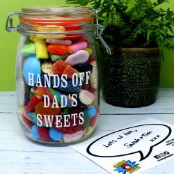 Dad's Personalised Retro Sweets Jar