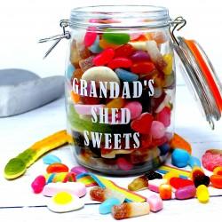 Grandad's Personalised Retro Sweets Jar