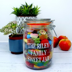 Family Personalised Retro Sweets Jar