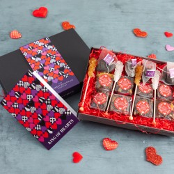 King of Hearts' Vegan Brownies Afternoon Tea For Four Gift