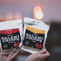 Keto Friendly Salami crisps - Mixed Original and Chilli (Box Of 12)