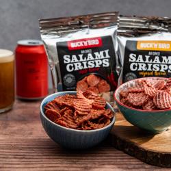Keto Friendly Salami crisps - Mixed Original and Chilli (Box Of 12)