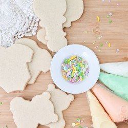 DIY Cookie Decorating Kit - Decorate Your Own Baby Themed Biscuits, 6 Biscuits