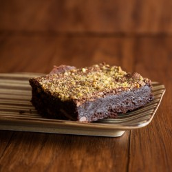 Rose, Almond & Pistachio Vegan Gluten Free Brownies