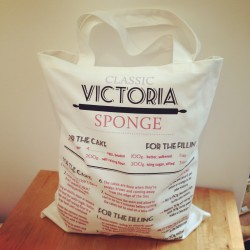 victoria sponge recipe cotton tote bag