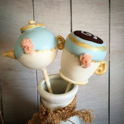 Vintage Tea Party Cake Pops