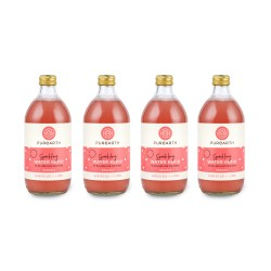 Purearth Hibiscus + Lime Sparkling Water Kefir 270ml (4 Pack)