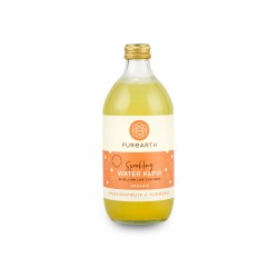 Purearth Passionfruit + Turmeric Sparkling Water Kefir 550ml (14 Pack)