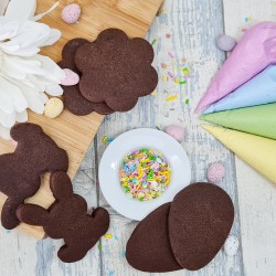 DIY Cookie Decorating Kit - Decorate Your Own Easter Themed Biscuits, 6 Chocolate Biscuits