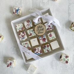 'Get Well Soon' Deluxe Nougat gift box (16 pieces)