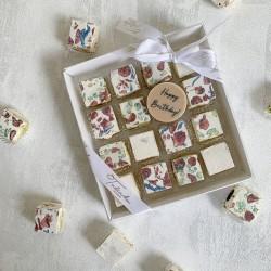 """Happy Birthday"" Deluxe Nougat Gift Box (16 pieces)"