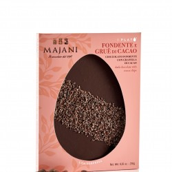 Majani Dark Chocolate & Cocoa Chips Flat Easter Egg (With Surprise inside!)