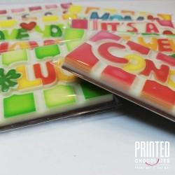 Printed Message Chocolate Bars