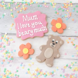 I love you beary much Mother's Day cookie gift
