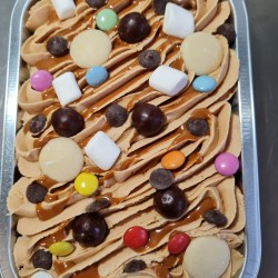 Vegan Celebration Traycake | Biscoff and Chocolate with sweet toppings