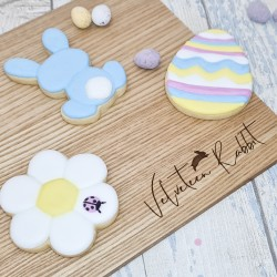 Letterbox Easter Gift Hand-Iced Vanilla Biscuits Set With Personalised Lid, 3 Pieces