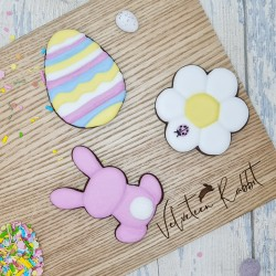 Easter Letterbox Gift Hand-Iced Chocolate Biscuits Set With Personalised Lid, 3 Pieces