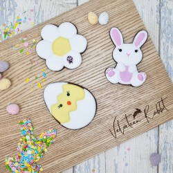 Easter Themed Hand-Iced Chocolate Biscuits Letterbox Gift Set, 3 Pieces
