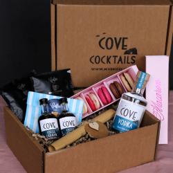 Espresso Martini Cocktails and Macaron Gift Box