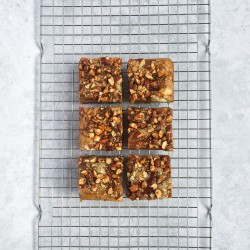 """""""Bit of a Mouthful"""" Almond, White Chocolate and Caramel Vegan Blondie (Box of 6)"""