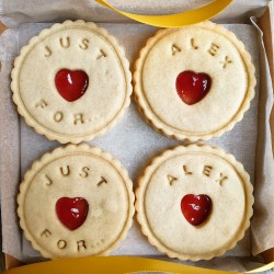 Personalised Handmade Jam Biscuits