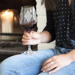 Monogrammed Crystal Wine Glass
