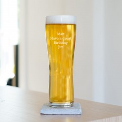 Special Message Pint Glass