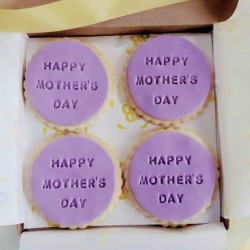 Fondant Mother's Day Biscuits