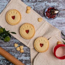 Personalised Handmade Jam Biscuits
