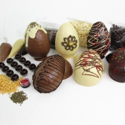 Davenports Chocolates home Easter Egg kits in milk, dark and white chocolate