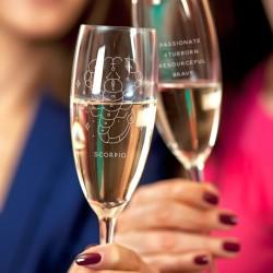 Horoscope Champagne Glass