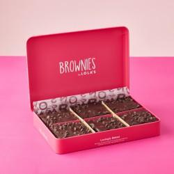 Brownies by Lola's - Vegan 6 Brownies Gift Tin