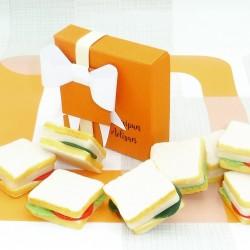 Handmade Marzipan Sandwiches