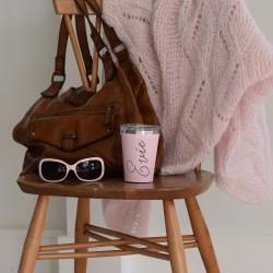 Personalised Blush Pink Corkcicle Drinks Mug