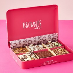Brownies by Lola's - Assorted Chocolate 6 Brownies Gift Tin
