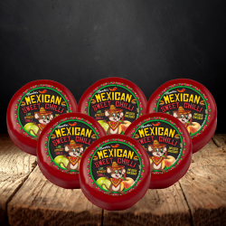 Mexican Sweet Chilli Cheddar Cheese Truckle 6-Pack (1200g)