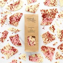 Strawberries & Cream Chocolate Shards