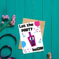 Let The Party BeGIN - Gin Themed Greetings Card