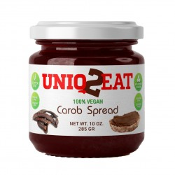 Pure Carob Spread 280g - Vegan, Healthiest alternative to chocolate spread, jelly, peanut butter and other spreads