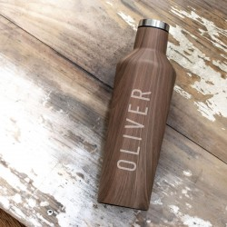 Personalised Wood Effect Corkcicle Drinks Bottle