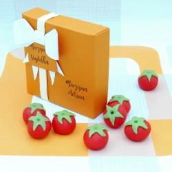 Handmade Marzipan Tomatoes Vegan Sweet Gift for Gardeners