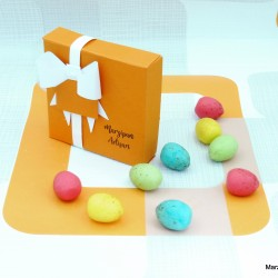 Marzipan Rainbow Easter Egg Vegan Sweets Cake Topper Decorations