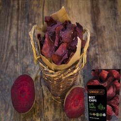 Uniq2Eat Vegan Beetroot with Garlic Chips (10 packs)