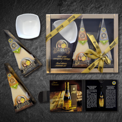 24 And 36 Month Matured Hard Cheese Gift Set With Bowl