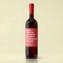 Happy Father's Day Best Daughter Red Wine