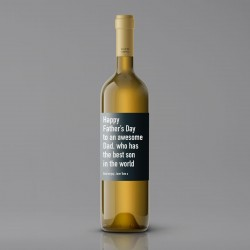 Happy Father's Day Best Son White Wine